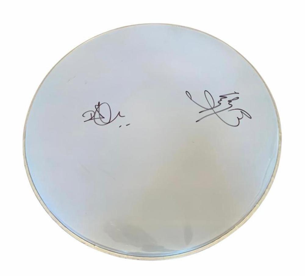 Led Zeppelin Signed Drumskin Certified