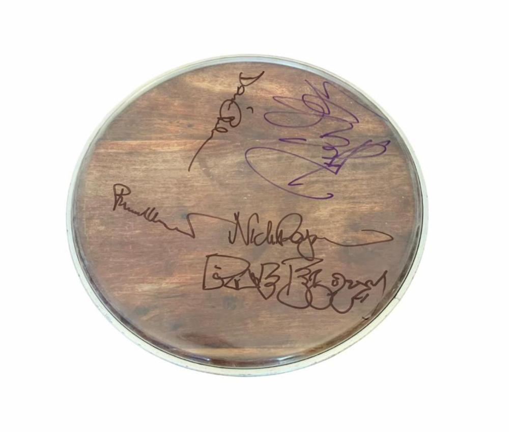 Pink Floyd Fully Signed Drumskin Certified