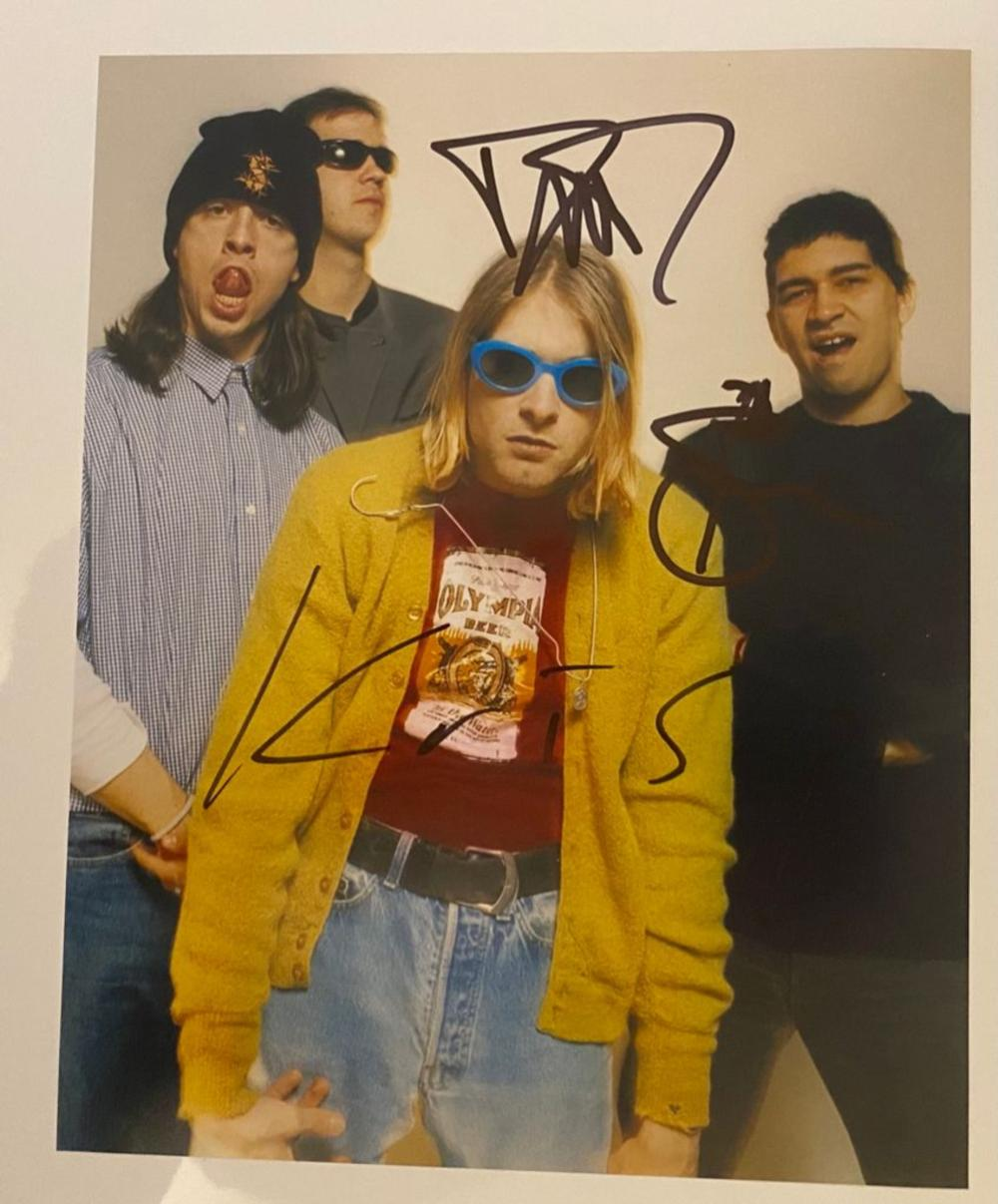 Nirvana Signed Photograph Certified
