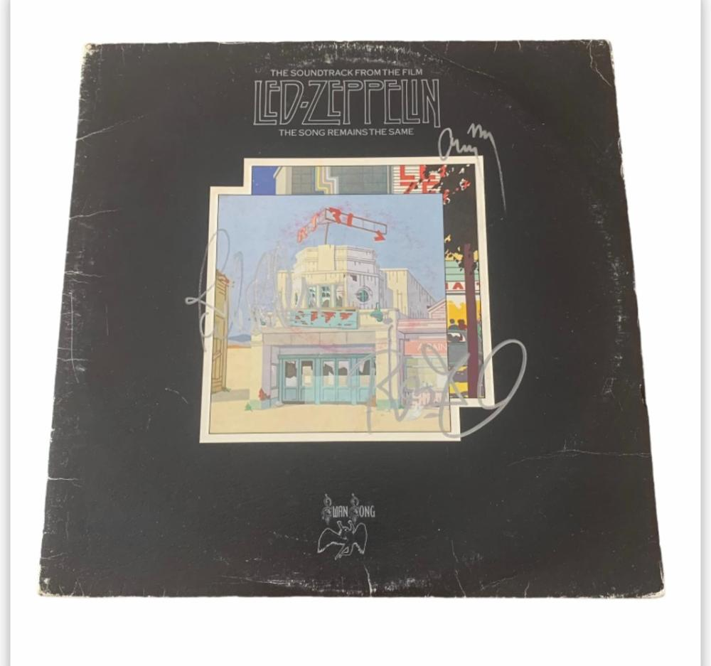 Led Zeppelin Fully Signed The Song Remains The Same Vinyl LP Certified