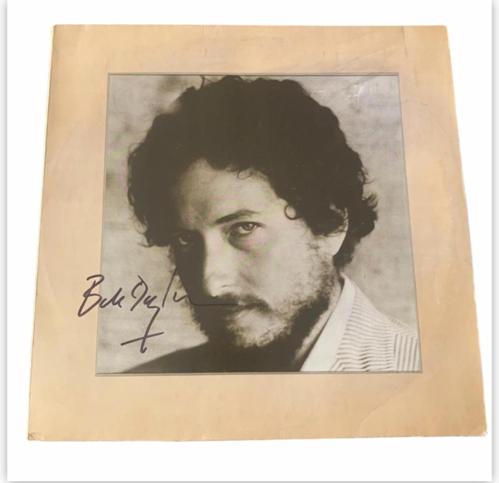 Bob Dylan New Morning Signed Vinyl LP Certified