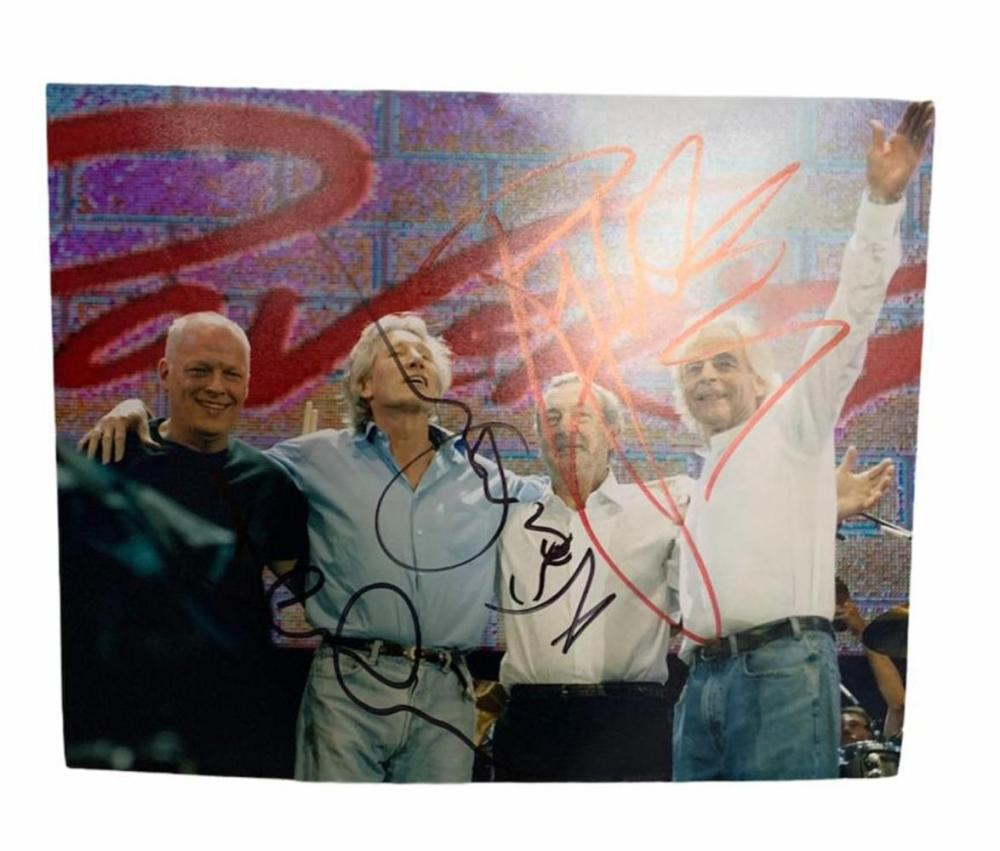 Pink Floyd Signed Photograph Certified