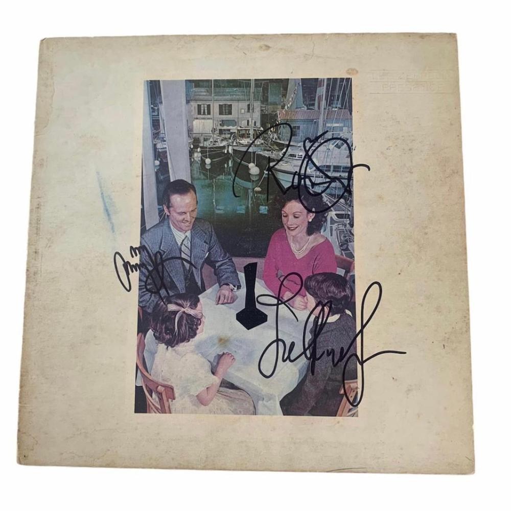 Led Zeppelin Signed Presence Vinyl LP Certified
