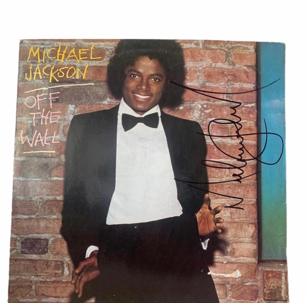Michael Jackson Signed Off The Wall Vinyl LP Certified