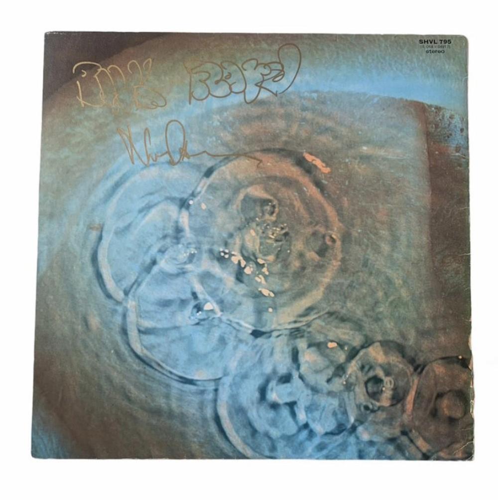 Pink Floyd Nick Mason Signed Meddle Vinyl LP Certified