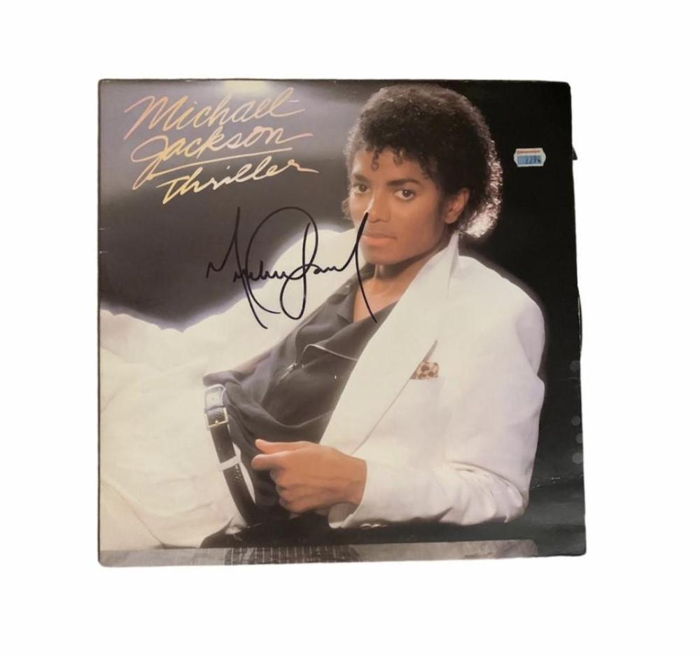 Michael Jackson Signed Thriller Vinyl LP Certified