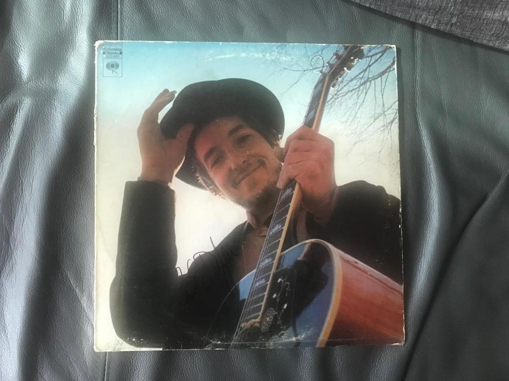 Bob Dylan Signed Nashville Skyline Vinyl LP Certified