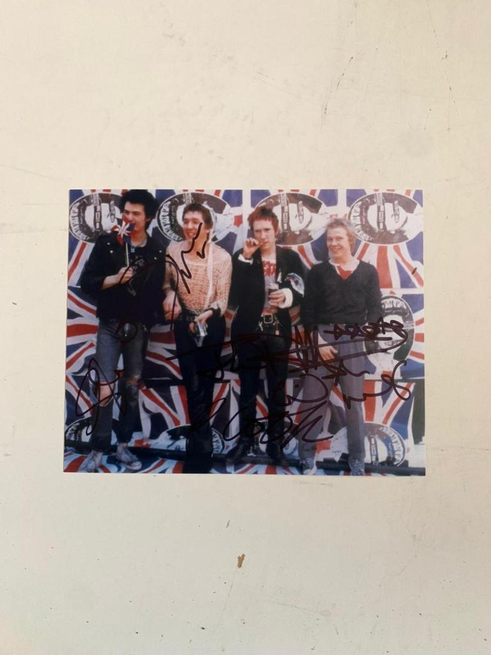 The Sex Pistols Fully Signed Photograph Certified