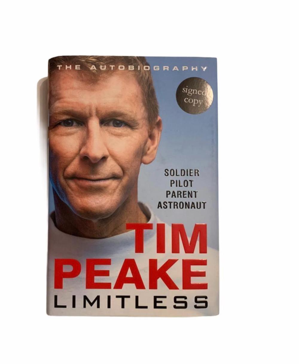 Tim Peake Signed Limitless Hardback Book Certified