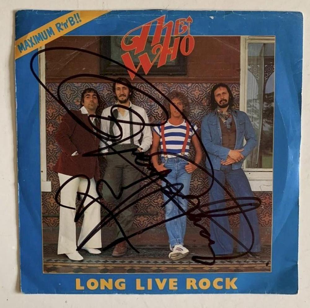 The Who Signed Long Live Rock Vinyl 45 Certified