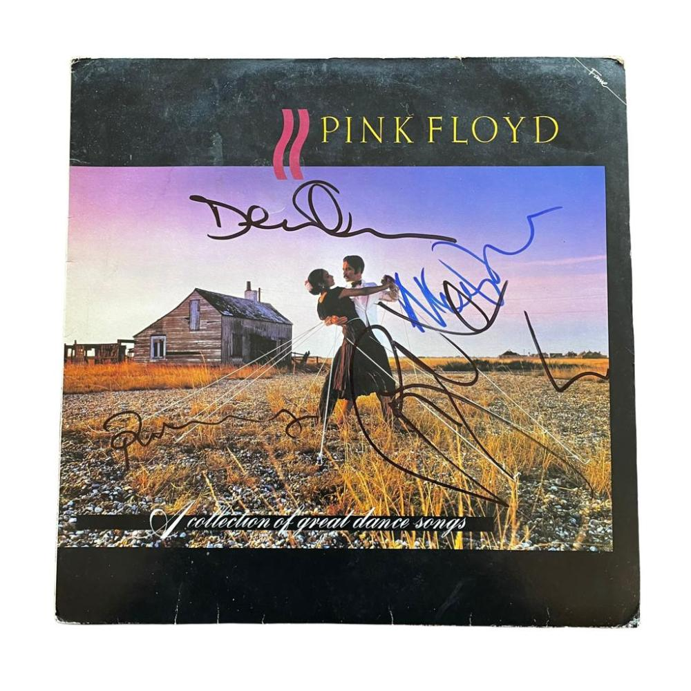 Pink Floyd Signed A Collection Of Great Dance Songs Vinyl LP Certified