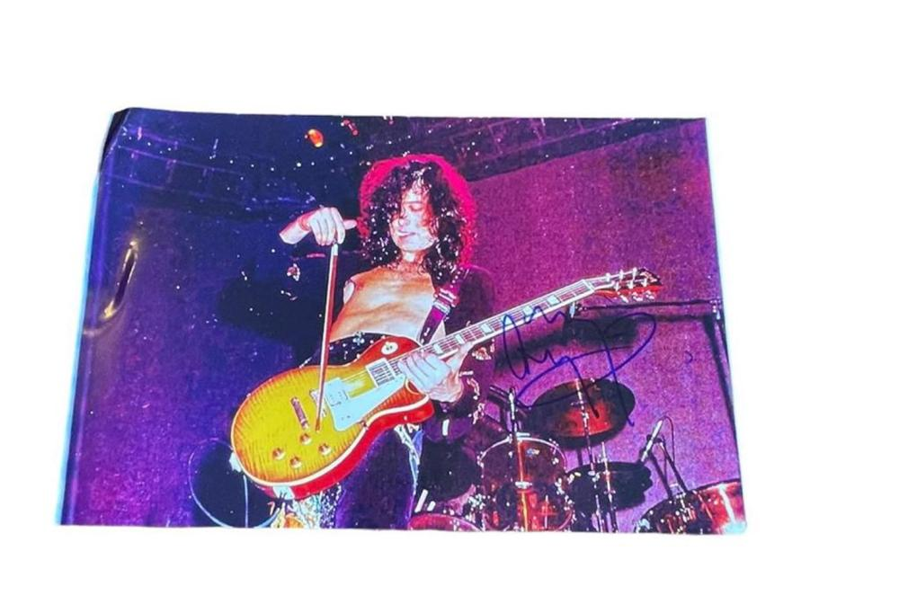 Jimmy Page Led Zeppelin Signed Photograph Certified