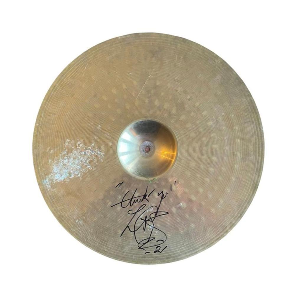 Charlie Watts The Rolling Stones Signed Drum Cymbal Certified