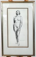 Guy PENE DU BOIS: Female Nude - Graphite on Paper