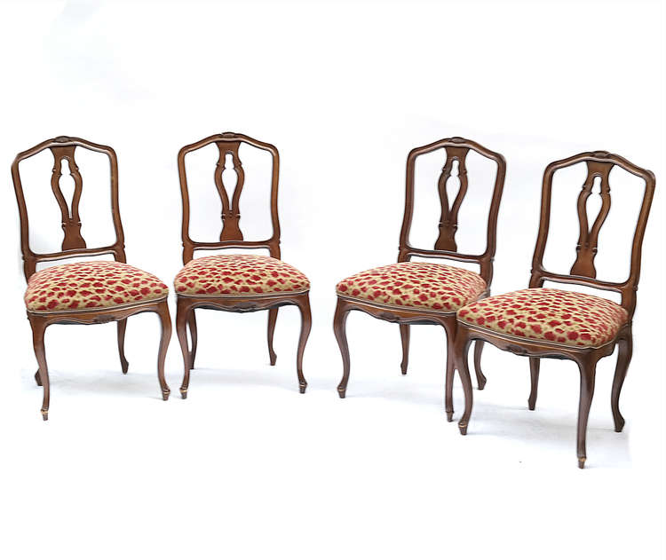 Set of 4 louis xv side chairs for Furniture 4 a lot less