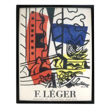 Fernand LEGER: Exhibition Color Lithograph