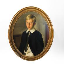 Louis BETTS: Portrait of a Boy - Oil on Canvas