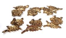 Group of Gilded Oriental Wood Carving