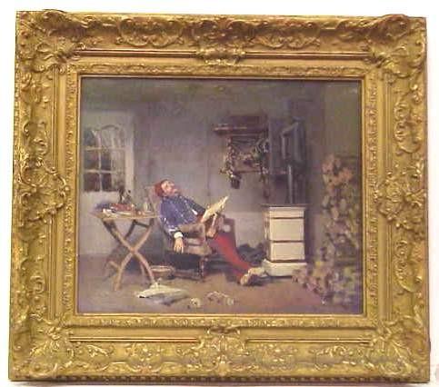 AUGUSTE LOUSTAUNAU (1846- 1898 FRANCE)