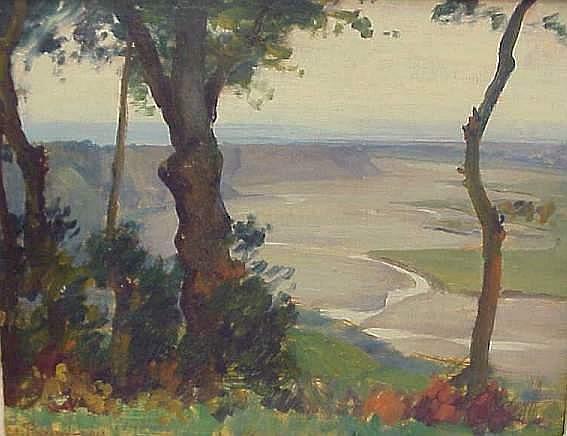 Stefan Popescu (1872-1948 Romanian) Landscape
