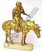 Russian Kossack (1881-1970 France) bronze statu, René Paris, Click for value