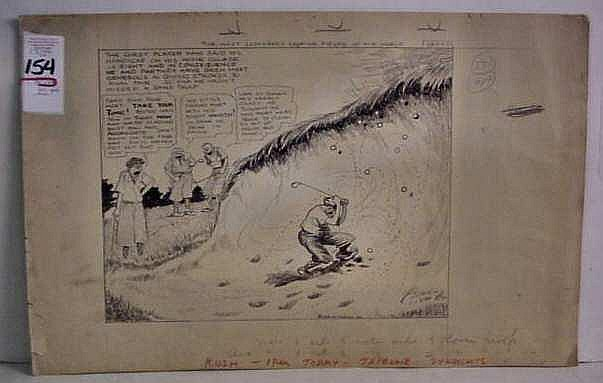 Clare Briggs (1875-1930 NY) Golf pen  &  ink