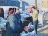 Robert Taylor Carson, RUA - THE STREET SELLER - Oil on Canvas - 12 x 16 inches - Signed, Robert Taylor Carson, £0