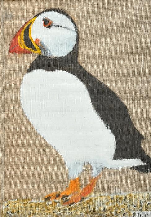 Ian Brown - THE FIRST MUMMY PUFFIN - Oil on Linen