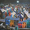 George Callaghan - WINTER, FISHING VILLAGE -, George  Callaghan, Click for value