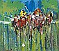Desmond Murrie - OUT IN FRONT, Oil on Board, 12 x, Desmond Murrie, Click for value