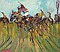 Desmond Murrie - PAST THE POST, Oil on Board, 12 x, Desmond Murrie, Click for value