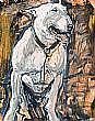 Stephen McKeown - SEATED BULLDOG, Oil on Canvas,