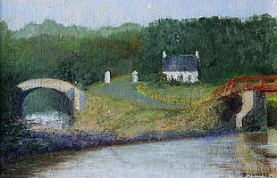 Stanley Vennard - COTTAGE BY THE RIVER - Oil on