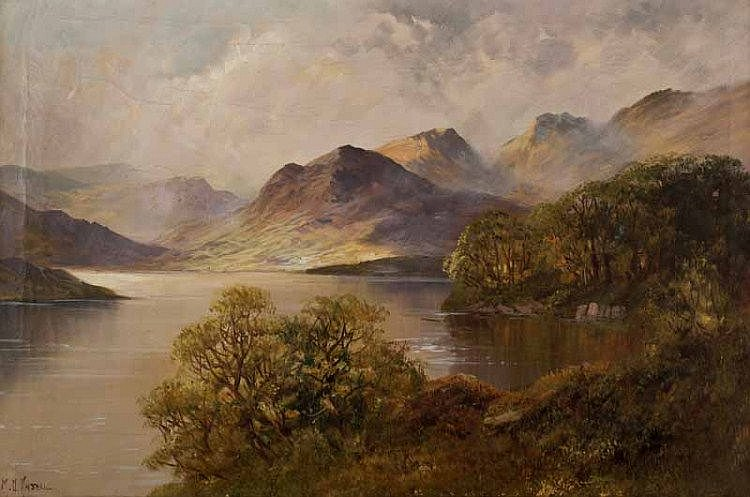 Montgomery Ansell - HIGHLAND LOCH - Oil on Canvas