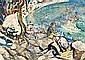 Olive Henry, RUA - BEACH SCENE, Watercolour, Olive Henry, Click for value