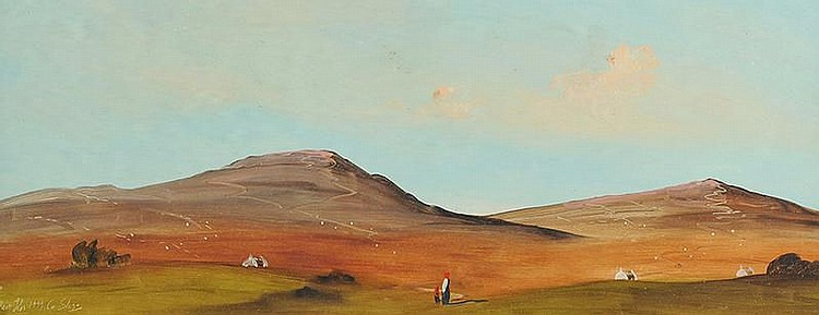 Adam Kos - COUNTY SLIGO - Oil on Board - 8 x 20