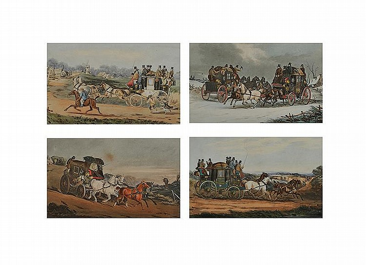 H. Ackermann - COACHING SCENES - Print (Set of 4)