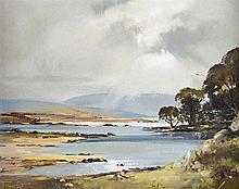 Frank Fitzsimons - ACROSS STRANGFORD LOUGH - Oil on Canvas - 16 x 20 inches