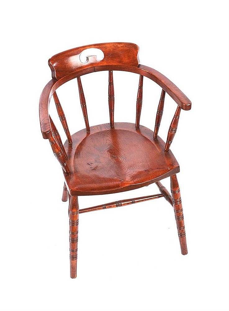 Oak Spindle Back Armchair