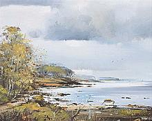 Frank Fitzsimons - HELEN'S BAY, COUNTY DOWN - Oil on Board - 12 x 14 inches