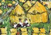 Ken Giles - CORN STACKS - Oil on Board - 10 x 14 inches - Signed, Ken Giles, Click for value