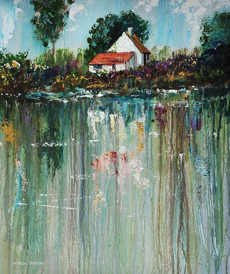 Patrick Bateman - COTTAGE BY THE WATER'S EDGE - Oil on Board - 24 x 20 inches - Signed
