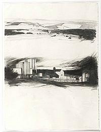 Doris Rohr - DISTILLERY - Charcoal on Paper - 30 x
