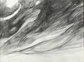Doris Rohr - LANDSCAPE - Charcoal on Paper - 22 x