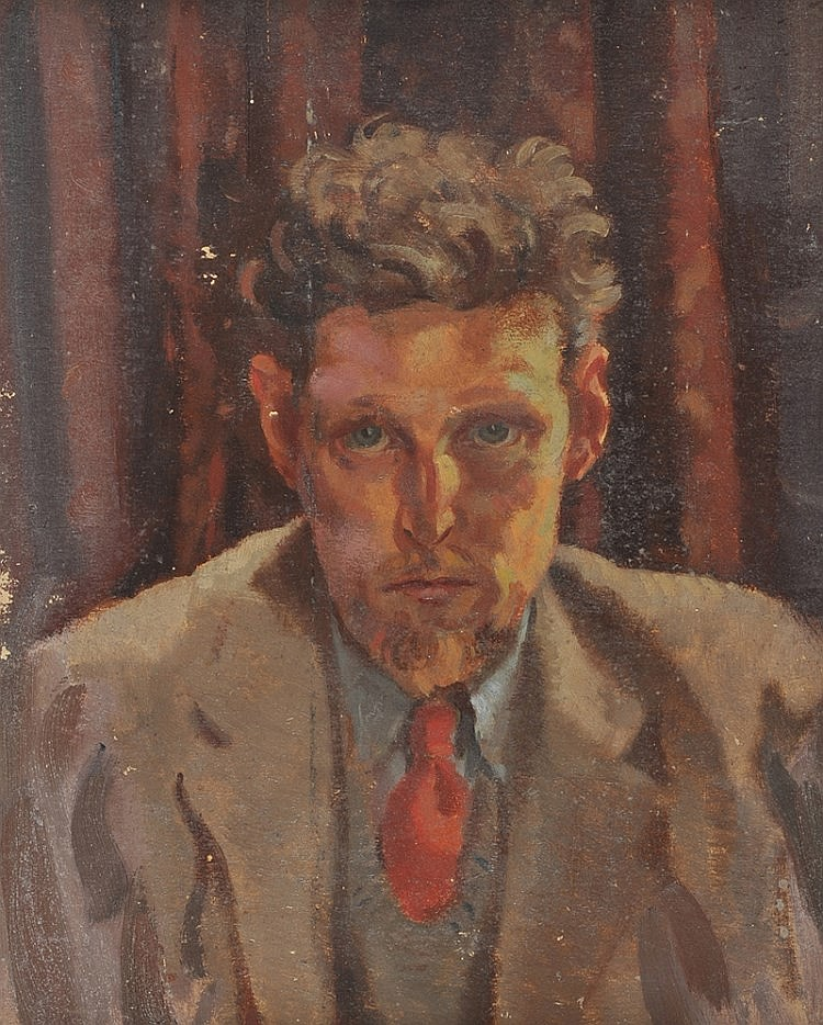 Henry C. O'Donnell - SELF PORTRAIT - Oil on Board