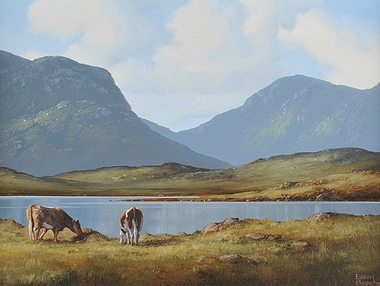 Eileen Meagher - CATTLE, LOUGH INAGH, CONNEMARA -