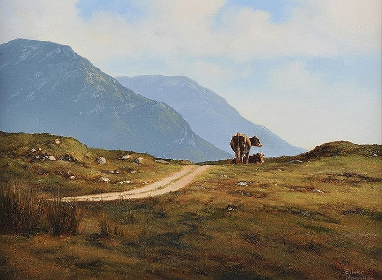 Eileen Meagher - CATTLE, INAGH VALLEY, CONNEMARA -