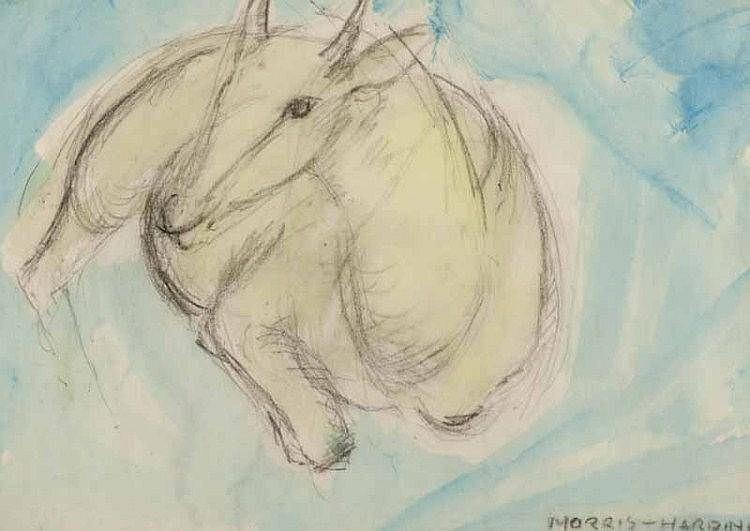Morris Harding, RUA - STUDY OF A DEER - Pencil on