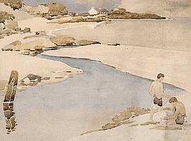 James Stanley Prosser, RUA (1887-1959) - BATHING,