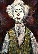 Gladys Maccabe, HRUA - CLOWN, Oil on Board, 20 x